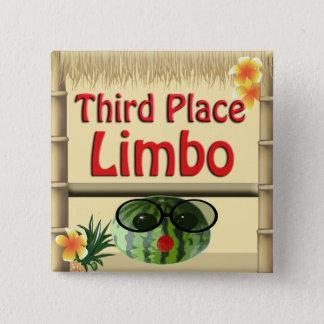 Badge Carré 5 Cm 3ème bouton de vide d'endroit de partie de hutte t