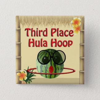 Badge Carré 5 Cm 3ème cercle de danse polynésienne d'endroit de