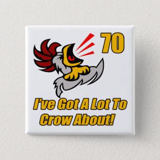 Badge Carré 5 Cm A obtenu de rappeler les soixante-dixième cadeaux