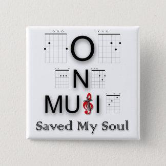 Badge Carré 5 Cm A sauvé ma guitare foncée d'image d'âme