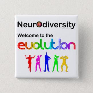 Badge Carré 5 Cm Accueil de Neurodiversity à l'évolution