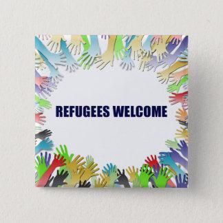 Badge Carré 5 Cm Accueil de réfugiés