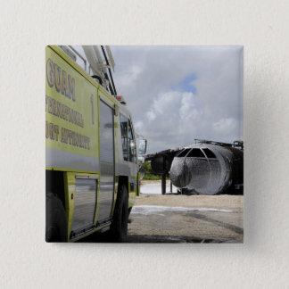 Badge Carré 5 Cm Aéroport du WONPAT de la Guam