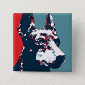 Badge Carré 5 Cm Affiche politique de parodie d'espoir de