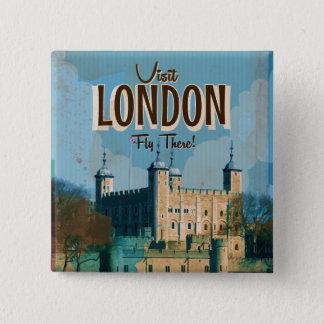 Badge Carré 5 Cm Affiche vintage de voyage de Londres