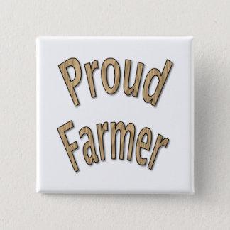 Badge Carré 5 Cm Agriculteur fier