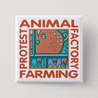 Badge Carré 5 Cm Agriculture d'usine