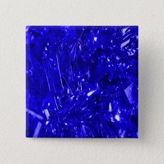 Badge Carré 5 Cm Aluminium bleu électrique de fête