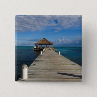 Badge Carré 5 Cm Ambre gris Caye Belize