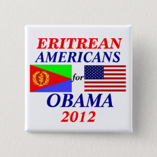 Badge Carré 5 Cm Américains érythréens pour Obama