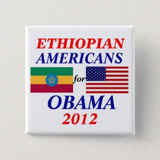 Badge Carré 5 Cm Américains éthiopiens pour Obama