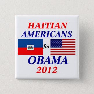 Badge Carré 5 Cm Américains haïtiens pour Obama