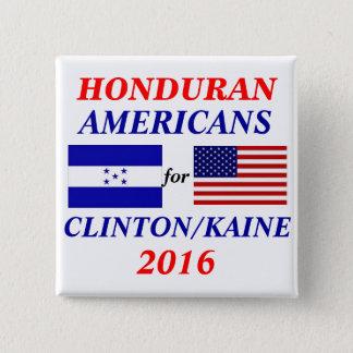 Badge Carré 5 Cm Américains honduriens pour Clinton/Kaine