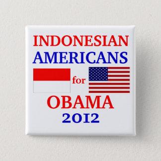 Badge Carré 5 Cm Américains indonésiens pour Obama