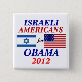 Badge Carré 5 Cm Américains israéliens pour Obama
