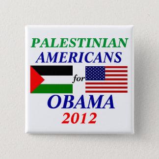 Badge Carré 5 Cm Américains palestiniens pour Obama