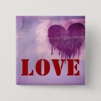 Badge Carré 5 Cm Amour de coeur d'art de rue