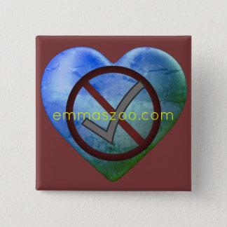 Badge Carré 5 Cm Amour, NON ! ! ! , OUI ! ! ! , emmaszoo.com