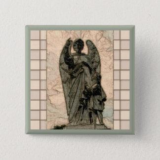 Badge Carré 5 Cm Ange gardien
