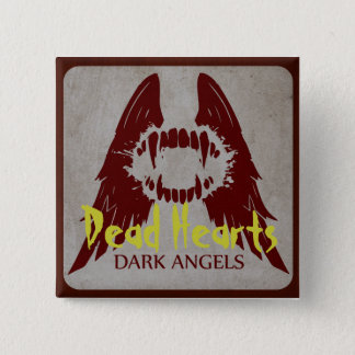 Badge Carré 5 Cm Anges foncés - romans morts de coeurs