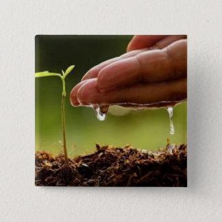 Badge Carré 5 Cm Arbres de plante