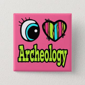 Badge Carré 5 Cm Archéologie lumineuse d'amour du coeur I d'oeil