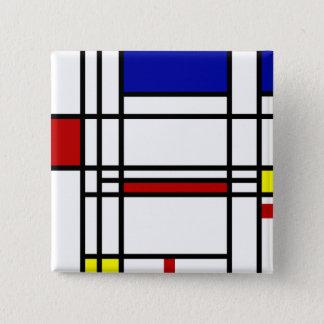 Badge Carré 5 Cm Art moderne de Mondrian