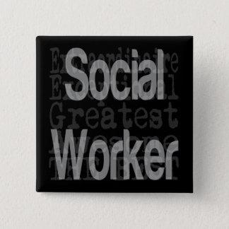 Badge Carré 5 Cm Assistant social Extraordinaire