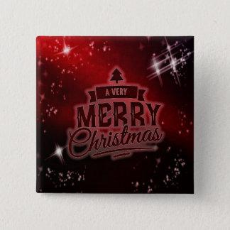 Badge Carré 5 Cm Ayez un bouton de vacances de carré de Noël très