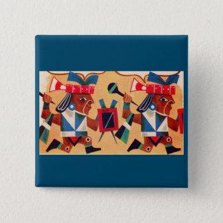 Badge Carré 5 Cm Aztèques aztèques