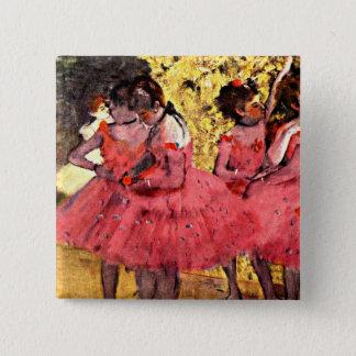 Badge Carré 5 Cm BALLET--Dégazez : Les danseurs roses