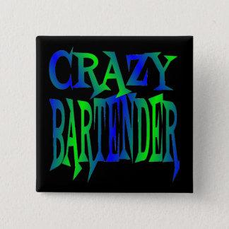 Badge Carré 5 Cm Barman fou