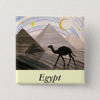 Badge Carré 5 Cm Bateau du désert