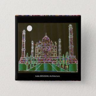 Badge Carré 5 Cm Bâtiment commémoratif de point de repère de Mughal