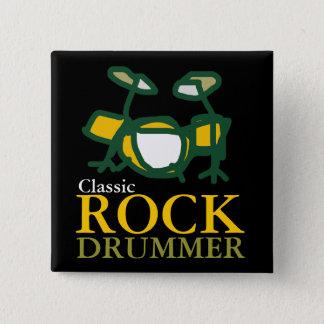 Badge Carré 5 Cm batteurs classiques de roche