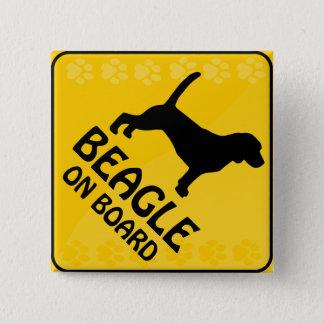 Badge Carré 5 Cm Beagle Xing