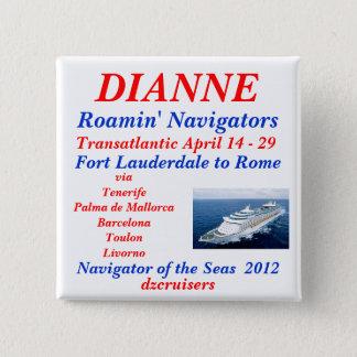 Badge Carré 5 Cm blanc nommé de navigateur d'étiquette