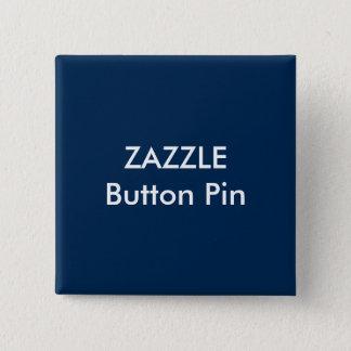 Badge Carré 5 Cm BLEU-FONCÉ vide de Pin de bouton de carré de