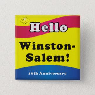 Badge Carré 5 Cm Bonjour Winston Salem