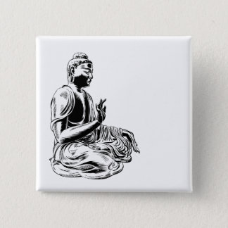 Badge Carré 5 Cm Bouddha