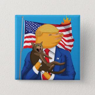 Badge Carré 5 Cm Bouton américain de catastrophe