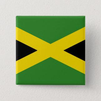 Badge Carré 5 Cm Bouton avec le drapeau de la Jamaïque