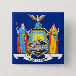 Badge Carré 5 Cm Bouton avec le drapeau de New York
