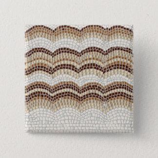 Badge Carré 5 Cm Bouton beige de carré de mosaïque