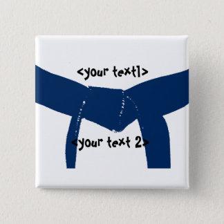 Badge Carré 5 Cm Bouton bleu-foncé de ceinture d'arts martiaux