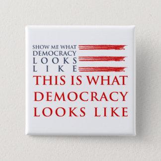 Badge Carré 5 Cm Bouton carré de démocratie