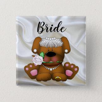 Badge Carré 5 Cm Bouton carré de jeune mariée