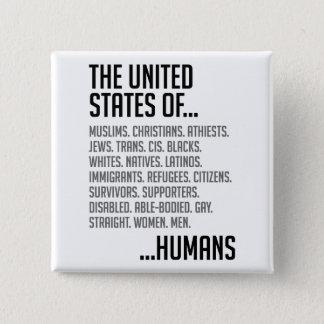 Badge Carré 5 Cm Bouton carré des Etats-Unis