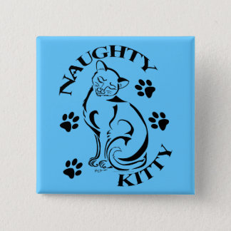 Badge Carré 5 Cm Bouton carré vilain de Kitty