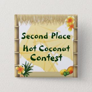 Badge Carré 5 Cm Bouton chaud de récompense de noix de coco